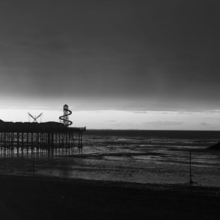 Sunset on Herne bay pier 4 BW - Photo original taken 02/09/2020